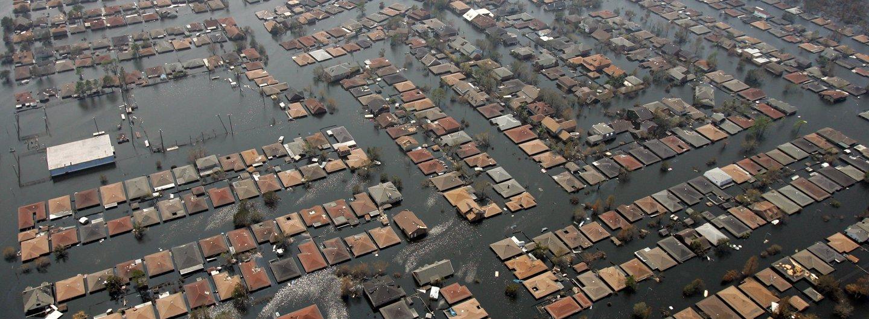 Hurricane Katrina Flooded Houses St Bernard Parish